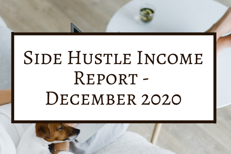 Side Hustle Income Report December 2020