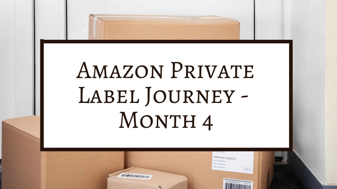Amazon Private Label Journey - Month 4