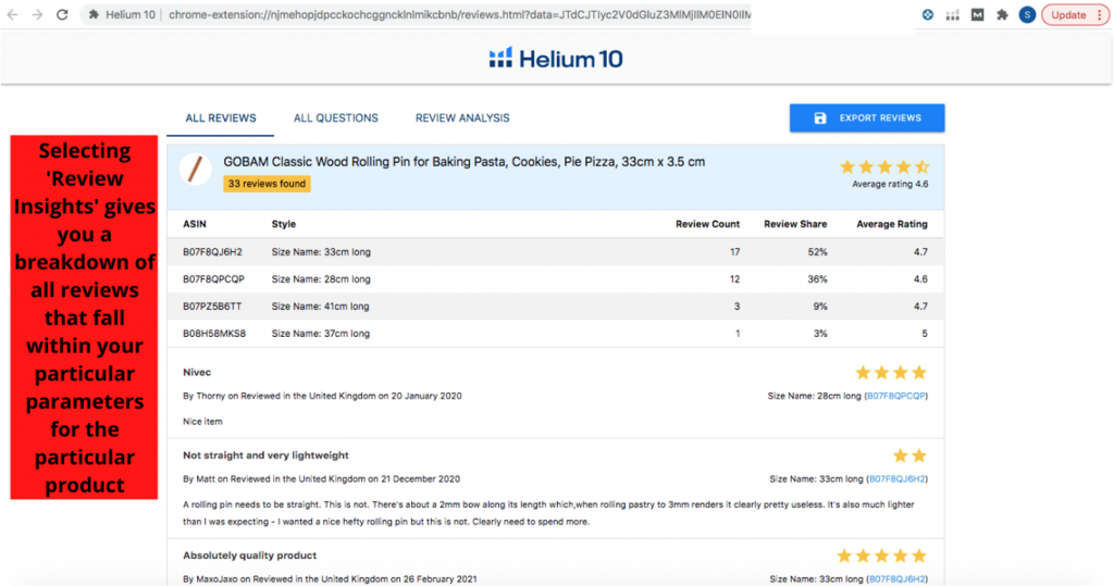 Helium 10 Chrome Extension Review Insights